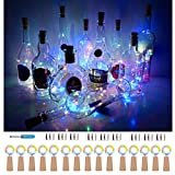 Wine Bottle Cork Lights 15Pack 10 LED/ 40 Inches Battery...