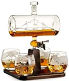 Whiskey Decanter with Antique Ship - The Wine Savant Ship...
