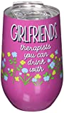 Spoontiques Girlfriends Stainless Wine Tumbler, 14 ounces,...