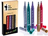 The Original Wine Glass Markers - (Set of 5 Wine Markers)...