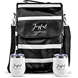 Wine Tote Bag - Insulated Portable traveling Carrier Cooler...
