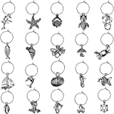 50 Piece Beach Themed Wine Glass Charms with 50 Pieces...