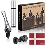 Wine Aerator and Wine Saver Pump with 2 Vacuum Bottle...