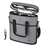Tirrinia Insulated Wine Carrier - 3 Bottle Travel Wine Carry...