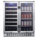 EdgeStar 30-Inch Built-In Wine and Beverage Cooler with...