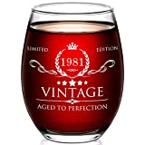 40th Birthday Gifts for Women and Men - 15oz Wine Glass -...