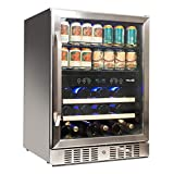 NewAir Beverage Cooler 22 Bottle and 70 Can Capacity Dual...