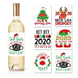 Christmas Ideas Wine Bottle Labels - Set of 6 Wine Labels...