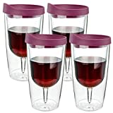 Southern Homewares Wine Tumbler 10oz Insulated Vino Double...