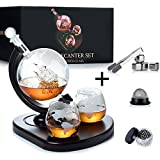 WEEBNG Whiskey Decanter Set,Globe Wine Decanter Set with 2...