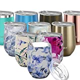 Stainless Steel Insulated Wine Tumbler - THILY Stemless Wine...