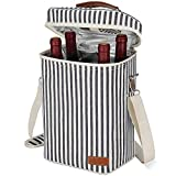 4 Bottle Wine Tote Bag, Leakproof & Insulated Wine Carrier...