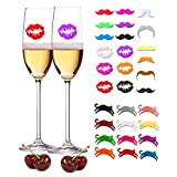 WZT 30 Pieces Silicone Drink Markers Wine Glass Markers Wine...