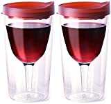 Vino2Go 10 Ounce Merlot Acrylic Insulated Wine Tumbler with...