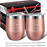 2 Pack Good Friends Are Like Stars Wine Tumbler Cup,...