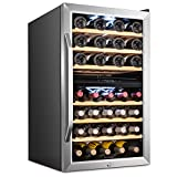 Ivation 43 Bottle Dual Zone Wine Cooler Refrigerator w/Lock...