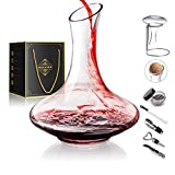 1800ML Crystal Glass 64 Oz Wine Decanter Wine Carafe Gifts...