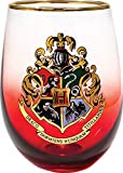 Spoontiques Hogwarts Crest Stemless Glass, 20 ounces, Red