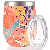 Insulated Wine Tumbler - Double Wall Stainless Steel With...