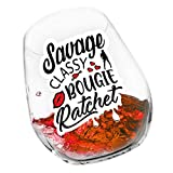 Savage Classy Bougie Ratchet Wine Glass Gifts for Women, 15...