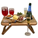 Kango Mango Portable Folding Wine and Champagne Picnic Table...