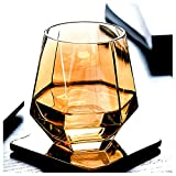 best whiskey glass 1,colored stemless wine glasses, amber...