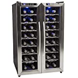 EdgeStar 32 Bottle Dual Zone Wine Cooler with Stainless...
