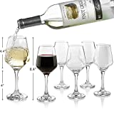 Premium Wine Glasses 10 Ounce - Lead Free Clear Classic Wine...