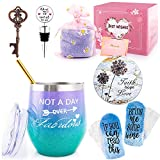 Wine tumbler gift baskets set for woman-Fun Birthday Gifts...