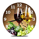 Ja Yhou dontcy Grape and Wine Wall Clock Silent Round Wall...