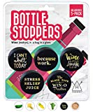 Hawwwy Funny Wine Stoppers, 5 Pack Hilarious Bottle Topper...