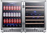 EdgeStar CWBV14246 48 Inch Wide 46 Bottle 142 Can Built-In...
