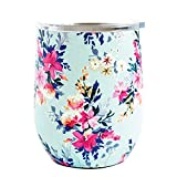 Mary Square Drink Lexington Stainless Tumbler, 12 oz, Floral
