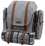 Picnic Backpack for 4 | Picnic Basket | Stylish All-in-One...