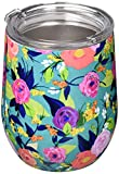 Mary Square Drink Nantucket Stainless Tumbler, 12 oz, Floral