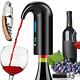 Electric Wine Aerator Pourer, Portable One-Touch Wine...