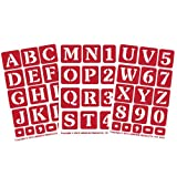 Armour Products Etch Over N Over Stencil with 1.5-Inch...