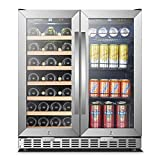 30 Inch Wide Sinoartizan Wine and Drink Fridge Cooler, 33...