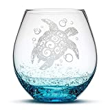 Integrity Bottles Sea Turtle Stemless Wine Glass, Bubbly...
