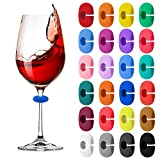 24 Pcs Wine Glass Charms Markers Drink Markers, Silicone...