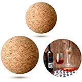 2 Pieces Wine Cork Ball Wooden Cork Ball Stopper for Wine...