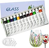 Magicdo Stained Glass Paint with Palette,Transparent Glass...