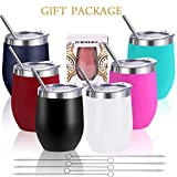 Zonegrace 6 pack Mix Color 12 oz Stainless Steel Stemless...