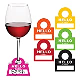 Creative Converting Hello Name, Wine Glass Tags