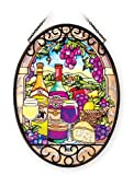 Amia 41085 Hand Painted Glass 5-1/2 by 7-Inch Oval Sun...