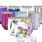 Wine Tumbler Stainless Steel Insulated - THILY Stemless Wine...
