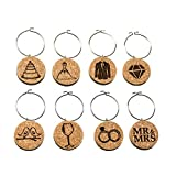 Wedding Wine Charms (20+ Unique Sets) Cork Wine Glass Charms...