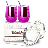 iTumbler 12oz Stainless Steel Insulated Wine Glasses (Set of...