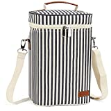 4 Bottle Insulated Wine Tote Carrier Cooler Bag, Travel...