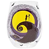 20oz Jack and Sally Moon Scene Stemless Glass Standard